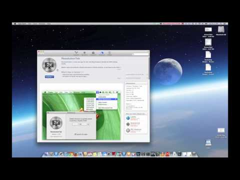 How to increase the resolution on a Macbook Pro Retina