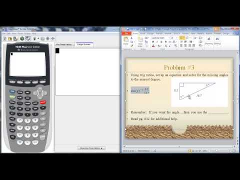 13 1 Inverse trig functions to find angle on ti 84