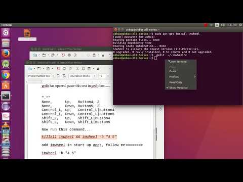 How to increase mouse wheel speed in ubuntu 16.04