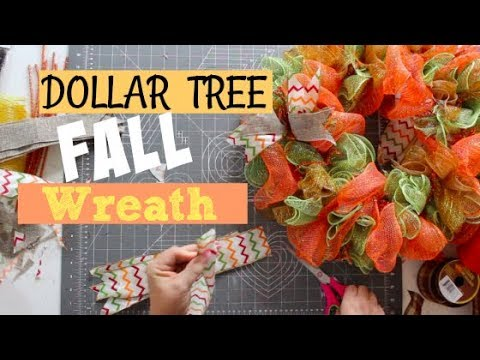 DOLLAR TREE | FALL WREATH DIY!