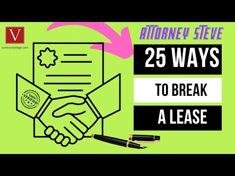 Top 25 ways to break a contract by Attorney Steve