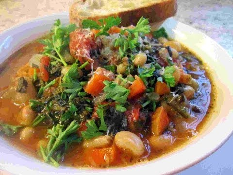 Easy Tuscan RIBOLLITA SOUP Recipe ~ Tuscany Power Soup