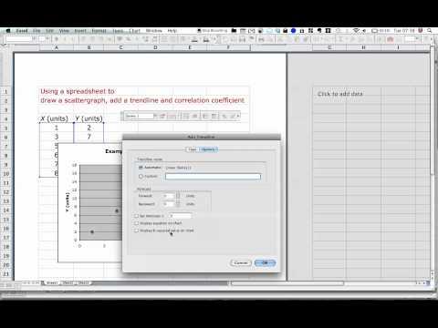 Scattergraph using spreadsheet