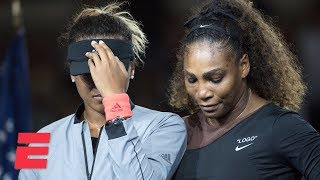 Full 2018 Us Open Trophy Ceremony With Serena Williams And Naomi Osaka  Espn