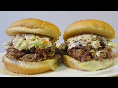 Carolina Style Chopped Pork Sandwiches with Vinegar Pepper Sauce