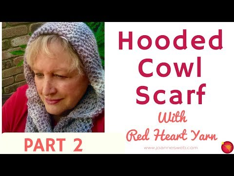 Hooded Cowl Scarf Part 2- Scarf with a Wood-  Red Heart Yarn Free Pattern Idea