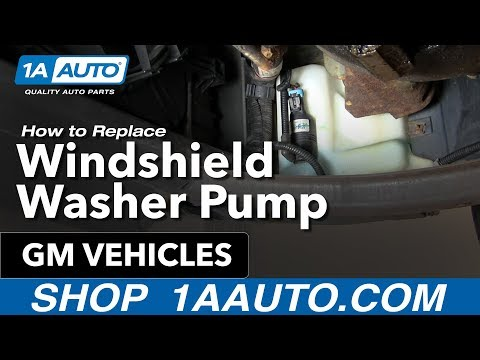 How To Install Replace Windshield Washer Pump Many GM Vehicles 1AAuto.com