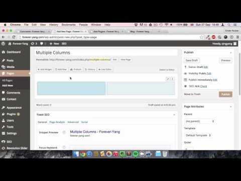 Create columns in posts and pages with WordPress and Page Builder by Siteorigin