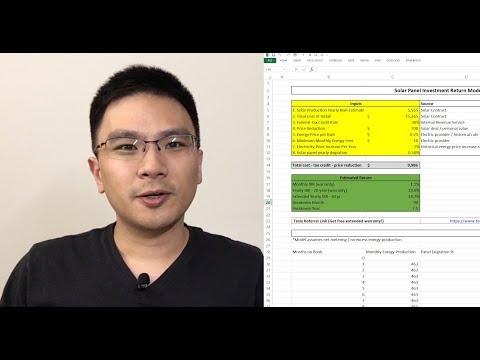 Calculating Solar Panel Investment Return (Tesla Example)