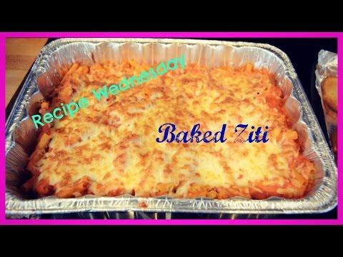 Recipe Wednesday:  Baked Ziti