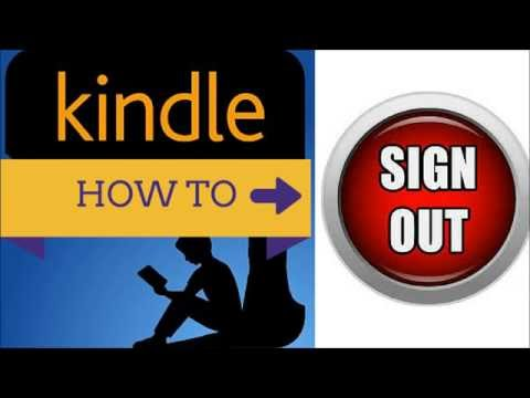 How to Sign Out of Amazon Kindle App Tutorial