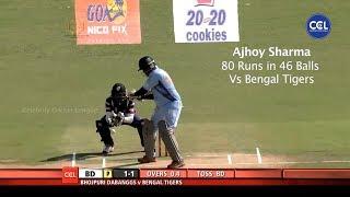 Ajhoy Sharma's Quick Fire 80 Runs In 46 Balls