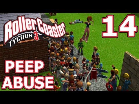 Peep Abuse (RollerCoaster Tycoon 3) - Part 14 - BEST RCT3 GLITCH EVER!
