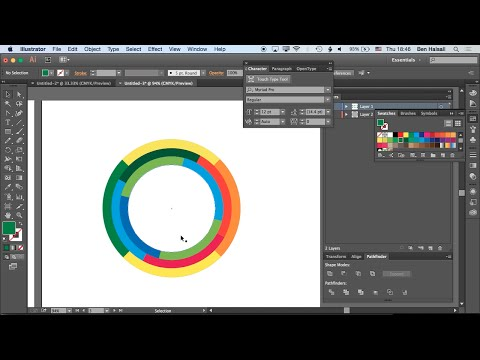 Adobe Illustrator: Concentric Circles Using the Pathfinder Tool (unedited in-class demo)