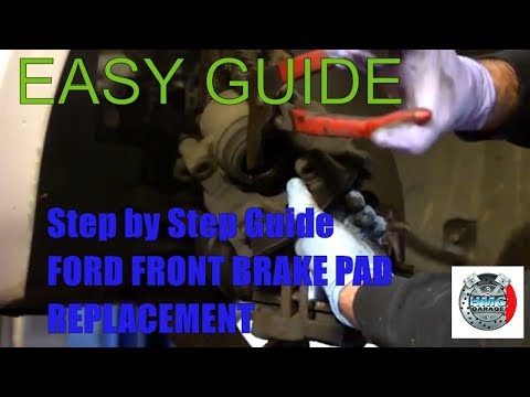 how to change front brake pads on ford mondeo 2008 2009 2010 ATE system