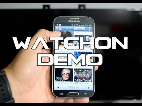 Samsung Galaxy S4 Demo | WatchON: Universal Remote For Your TV, Set-Top Box, A/V Receive, and more!