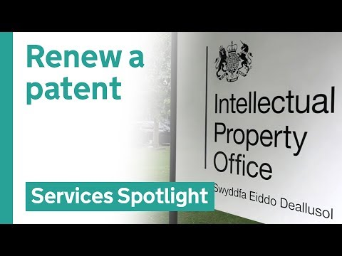 Renew a patent online