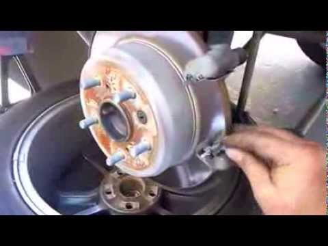 Rear brake pad replacement on 05 Toyota Solara