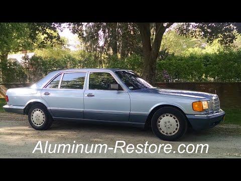 Anodized ALUMINUM RESTORE Demo, Mercedes - FAST & EASY