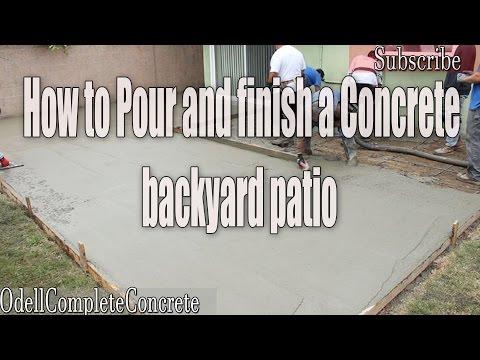 How to Pour a Backyard Concrete Patio part 2 (DIY)