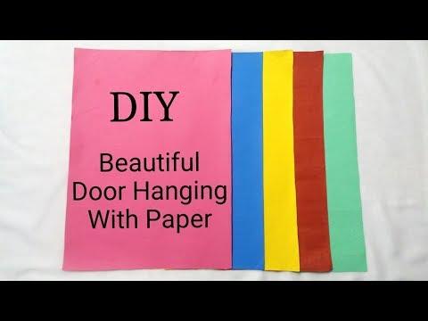DIY Paper Garland / Toran | How to make easy Paper Door Hanging / Wall Hanging | Handmade Decoration