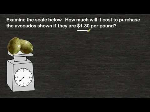 Word Problems - Finding Total Price When Given Unit Price