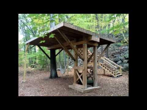 Building a Treehouse Platform in a single Oak Tree