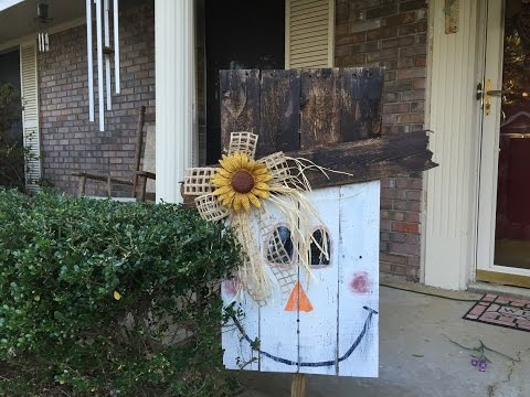 How to make a Pallet Scarecrow Tutorial