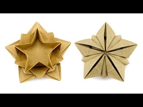 Origami Star Bowl Tutorial (Masoud Hosseini) - Paper Kawaii