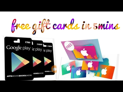 How to get free gift card for iTunes & Google play store. How to buy paid apps for free online money