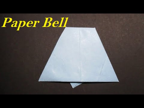 Paper bell - How to make a bell with paper