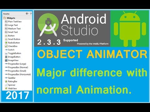 Android ObjectAnimator example. Android Studio tutorial. (NEW)