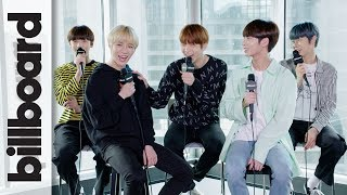 Download TXT Discuss Releasing 'Cat & Dog' In English & Love of BTS, Justin Bieber, Post Malone | Billboard Video