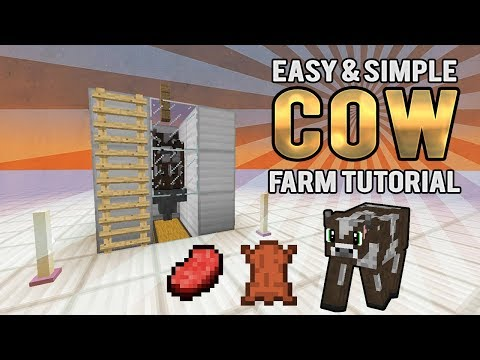 Best Easy 3x3 Cow farm for Survival & Skyblock  1.8 - 1.12.1