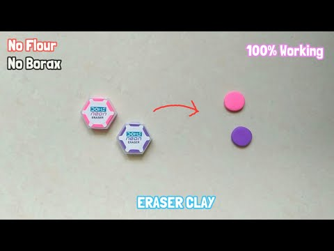 HOW to make clay (slime)  by using ERASER - technological sangeeta's sons