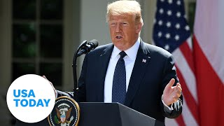 President Trump speaks at the White House Rose Garden | USA TODAY