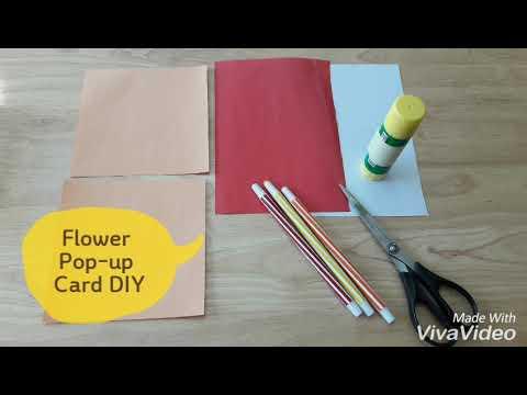 Easy Flower Pop-up Card DIY 간단한 꽃 팝업카드 만들기