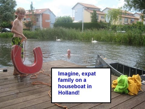Houseboat in Holland, Netherlands