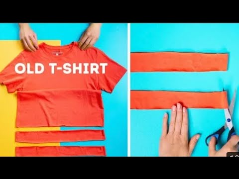 how to make Beautiful Sandals In Home | Best out of waste | old t shirt uses | no sew