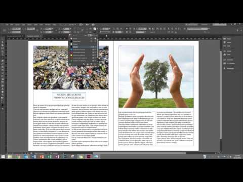 Creating a Mock Magazine Spread with InDesign