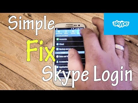 Fix Can't Login to Skype on Samsung or Android after Password Reset Microsoft