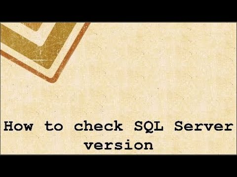How to check SQL Server version