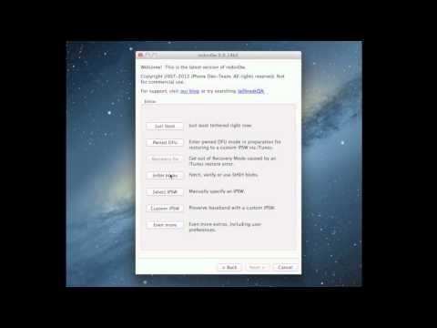 Créer un Firmware 5.1.1 modifié en intégrant vos SHSH (Redsn0w)