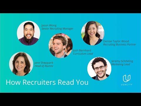 Udacity Alumni Network Presents: How Recruiters Read You