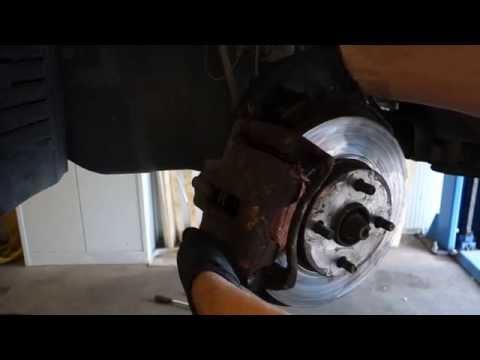 How to replace front brake pads Toyota Corolla. Years 2002 to 2010
