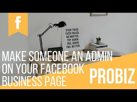 How to make someone Facebook page admin