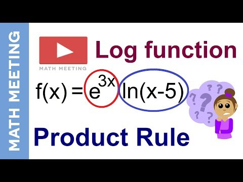 Product rule - Logarithm derivatives example