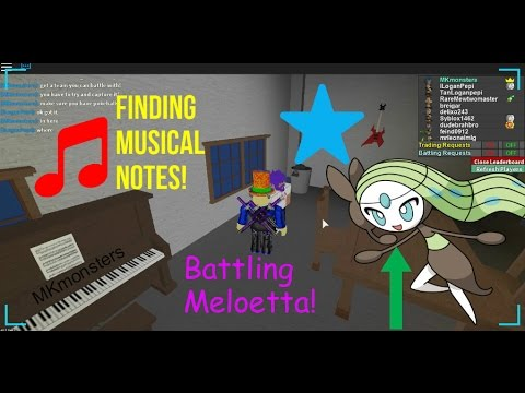 Roblox: Project Pokemon: Music Notes & Battling Meloetta!