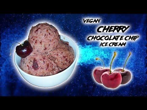 Cherry Chocolate Chip Vegan Ice Cream