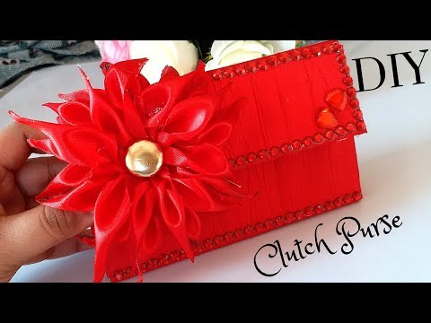 DIY Clutch PURSE - How to make clutch purse at home step by step - MayaKalista!